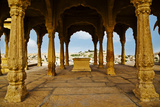 Architectural Detail of a Fort, Jaisalmer Fort, Jaisalmer, Rajasthan, India Photographic Print by uniquely india