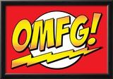 OMFG! Comic Pop-Art Art Print Poster Photo