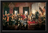 Howard Chandler Christy Scene at the Signing of the Constitution Art Poster Print Poster