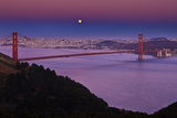 Solstice Moon over San Francisco Photographic Print by Don Smith