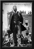 Teddy Roosevelt Speak Softly Quote Archival Photo Poster Art