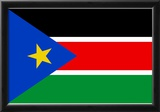 South Sudan Country National Flag Print Poster Print