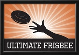 Ultimate Frisbee Orange Sports Poster Print Posters
