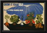 Rural Electrification Administration (Grow It Yourself, Farm Garden) Art Poster Print Posters