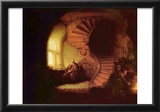 Rembrandt Harmensz. van Rijn (The philosopher) Art Poster Print Photo