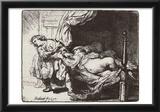 Rembrandt Harmensz. van Rijn (Joseph and Potiphar's wife) Art Poster Print Prints