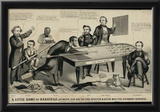 A Little Game of Bagatelle Old Abe the Rail Splitter Political Cartoon Art Print Poster Prints