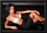 Brianna Martinez Topless on Couch Photo Poster by Mario Brown Prints