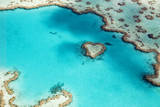 Heart Reef in the Great Barrier Reef Marine Park, Whitsunday Islands, Coral Sea, World Heritage Are Photographic Print by Peter Walton Photography