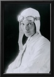Amelia Earhart in White Archival Photo Poster Print Posters