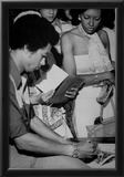 Arthur Ashe Signing Autographs Tennis Archival Photo Sports Poster Prints