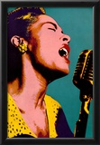 Billie Holiday Blue Pop Art Music Poster Prints