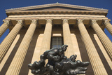 Usa, Pennsylvania, Philadelphia, Low Angle View of Philadelphia Museum of Art Facade Photographic Print by  Fotog