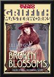 Broken Blossoms or The Yellow Man and the Girl Movie Lillian Gish Poster Print Prints