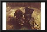 Vincent Van Gogh Still Life with a pair of shoes Art Poster Print Prints