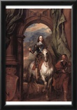 Anthony van Dyck (Portrait of Charles I, King of England, on horseback with his equerry St. Antoine Posters