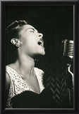 Billie Holiday Signing Archival Photo Music Poster Print Print
