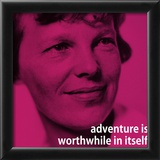 Amelia Earhart Adventure iNspire 2 Quote Poster Prints