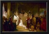 Baptism of Pocahontas Historic Art Print Poster Prints