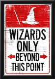 Wizards Only Beyond This Point Sign Poster Prints