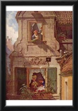 Carl Spitzweg (The love letter intercepted) Art Poster Print Print