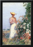 Childe Hassam Woman in Garden Art Print Poster Posters