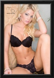 Caitlin Hixx Black Lace Lingerie Photo Poster by Mario Brown Prints
