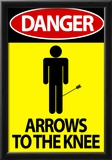 Danger - Arrows To The Knee Video Game Poster Photo