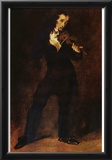 Eugène Ferdinand Victor Delacroix (Portrait of Paganini) Art Poster Print Prints