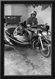 Dog in Motorcycle Sidecar Archival Photo Poster Prints
