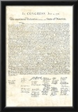 Declaration of Independence Authentic Reproduction Sepia Art Poster Print Posters