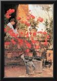Childe Hassam Red Geraniums Art Print Poster Print