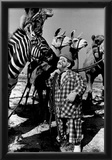 Clown with Circus Animals Archival Photo Poster Posters