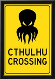 Cthulhu Crossing Creature Print Poster Posters