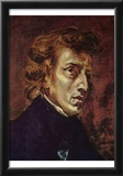 Eugene Ferdinand Victor Delacroix (Portrait of Frederic Chopin) Art Poster Print Prints