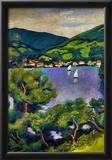 August Macke Tegern Sea Landscape Art Print Poster Prints