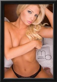 Caitlin Hixx Topless Bed Photograph Poster Print by Mario Brown Prints