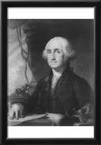 George Washington (Portrait, Black and White) Art Poster Print Prints