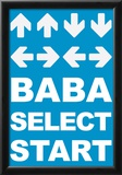 Konami Code (Contra, Blue) Video Game Poster Print Posters