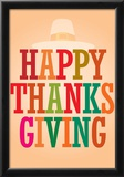 Happy Thanksgiving (Colorful) Art Poster Print Prints