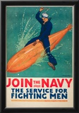 Join the Navy War Propaganda Vintage Ad Poster Print Print
