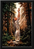 Indian Maiden Pray in Woods Art Print Poster Prints