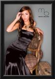 Karla Luna Black Silk Dress Photo Poster By Mario Brown Prints