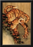 Katsushika Hokusai Tiger in the Rain Art Poster Print Posters