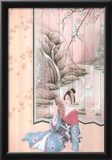 Japanese Girl Asian Floor Geisha Art Print POSTER Poster