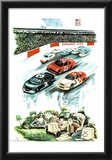 Nascar Dreams (Soapbox Derby) Art Print Poster Posters