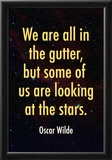 Oscar Wilde Looking at the Stars Quote Print Poster Posters