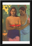 Paul Gauguin (Two girls with mango blossoms) Art Poster Print Posters