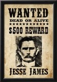 Jesse James Wanted Advertisement Print Poster Prints