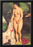 Pierre Auguste Renoir Bather with a Terrier Art Print Poster Posters